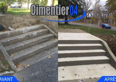 Rénovation d'un escalier en béton