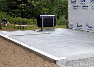 Fondation et plancher de garage coulé à Trois-Rivières